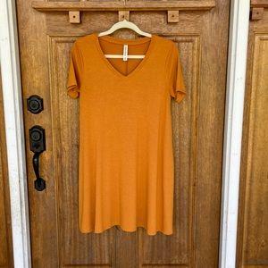 Zenana Premium | Light orange tshirt dress, medium